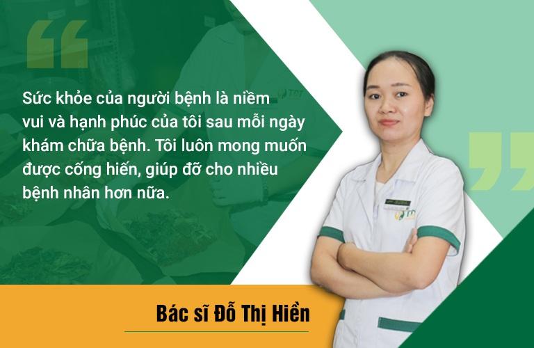 Chia sẻ của bác sĩ Hiền về tâm huyết với người bệnh