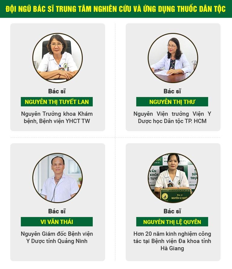 Đội ngũ chuyên gia hàng đầu về YHCT tại Trung tâm Thuốc dân tộc