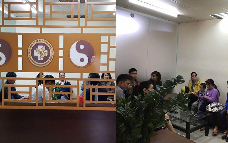 Đông đảo bệnh nhân chờ đợi ở các phòng khám bệnh