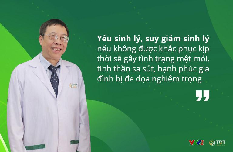 Bác sĩ Lê Hữu Tuấn cảnh báo những hệ lụy của tình trạng suy giảm sinh lý
