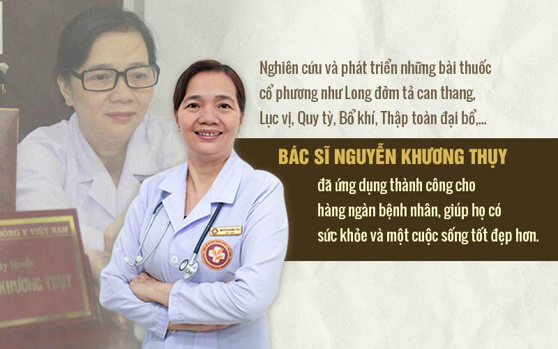 Bác sĩ Khương Thụy luôn tìm cách phát triển bài thuốc của mình dựa trên những bài thuốc cổ phương có giá trị cao, nhằm mang đến hiệu quả điều trị tốt nhất cho người bệnh