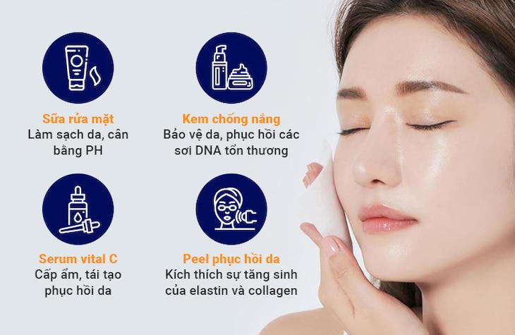 Sự kết hợp giữa bài thuốc uống và chăm sóc da chuyên sâu tại chỗ giúp tối ưu hóa hiệu quả sử dụng