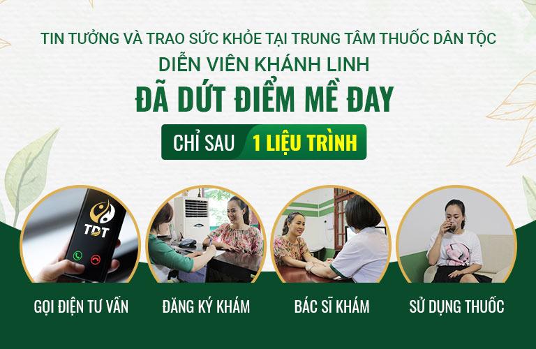 Diễn viên Khánh Linh đã điều trị mề đay mẩn ngứa thành công tại Trung tâm Thuốc dân tộc
