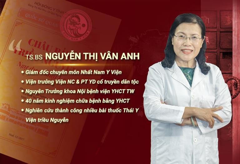 Bác sĩ Nguyễn Thị Vân Anh đánh giá vao phương pháp trị rụng tóc của TTDLĐYVN