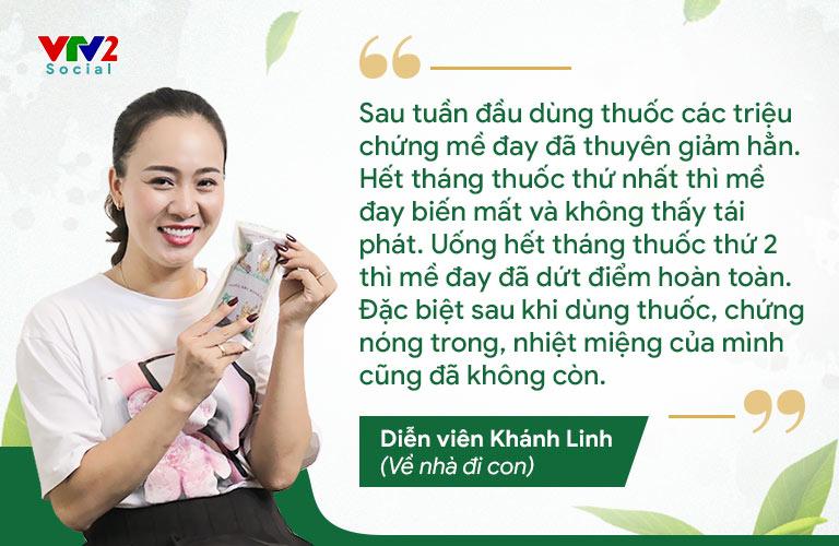 Diễn viên Khánh Linh hoàn toàn tin tưởng bài thuốc Tiêu ban Giải độc thang