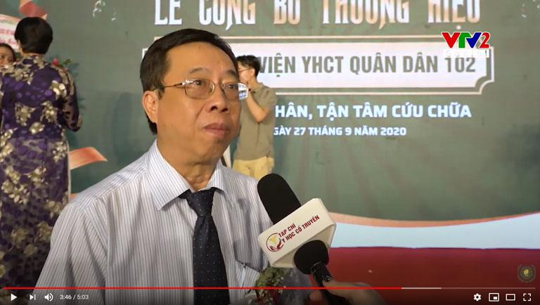 TTƯT. BSCKII. Lê Hữu Tuấn đánh giá về phương pháp điều trị Đông y có biện chứng tại Quân dân 102