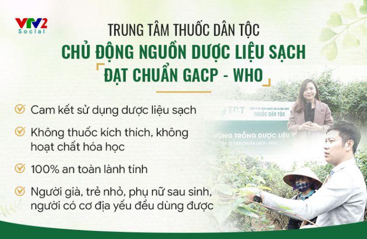 Trung tâm Thuốc dân tộc luôn chủ động nguồn thảo dược sạch đạt chuẩn GACP - WHO
