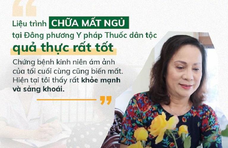 Nghệ sĩ Hương Dung cũng tin tưởng lựa chọn điều trị tại Đông Phương Y pháp