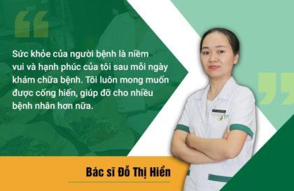 Bác sĩ Đỗ Thị Hiền yêu thương và trân trọng bệnh nhân
