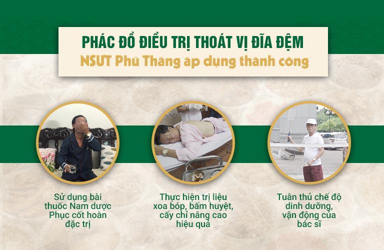 Phác đồ điều trị thoát vị đĩa đệm NSƯT Phú Thăng áp dụng thành công
