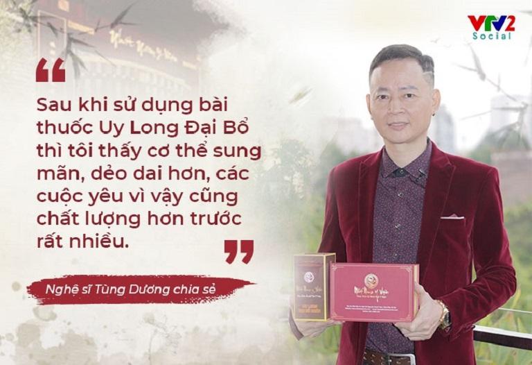 Nghệ sĩ Tùng Dương chia sẻ trên VTV2 Chất lượng cuộc sống