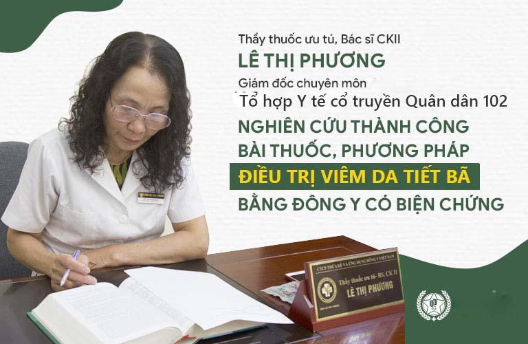 Bác sĩ Lê Phương nghiên cứu phương pháp chữa viêm da tiết bã