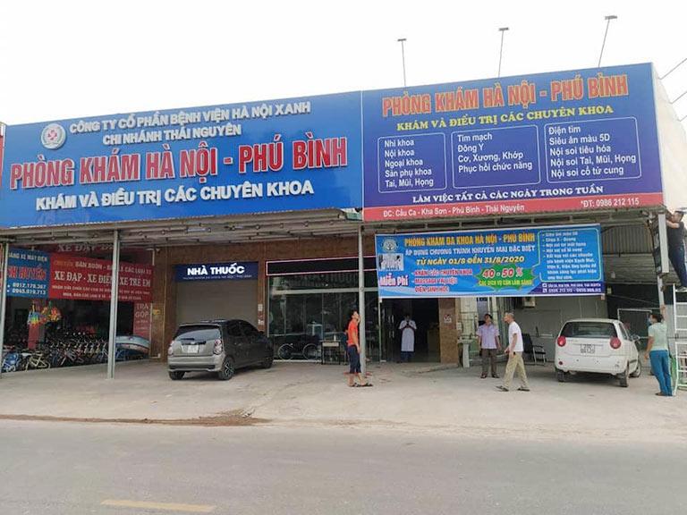 Phòng khám Đa khoa Hà Nội - Phú Bình tọa lạc tại Phú Bình, Thái Nguyên