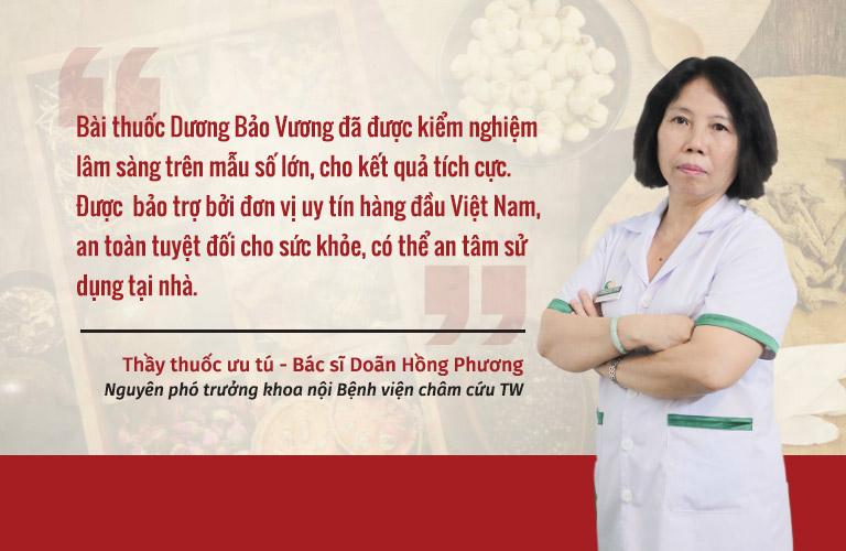 Bác sĩ Doãn Hồng Phương cũng đánh giá cao hiệu quả và tính ứng dụng thực tiễn của combo sinh lý