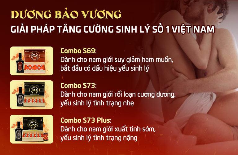 Bộ 3 combo sinh lý Dương Bảo Vương