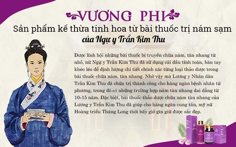 Bộ sản phẩm Vương Phi có tiền thân là bài thuốc của ngự y Trần Kim Thu