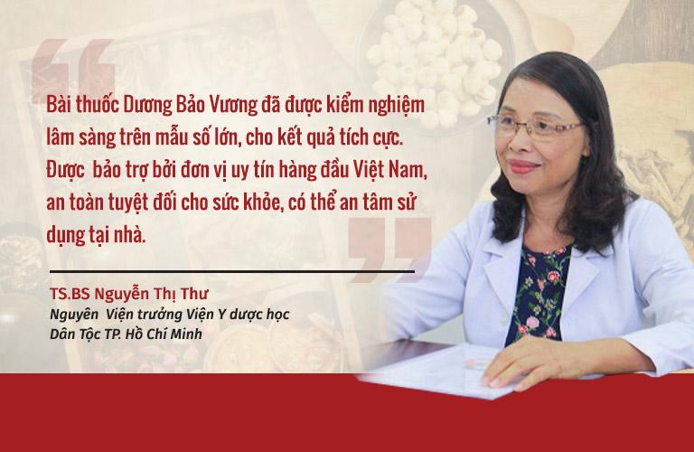 Bác sĩ Nguyễn Thị Thư đánh giá cao hiệu quả và tính ứng dụng thực tiễn của bài thuốc