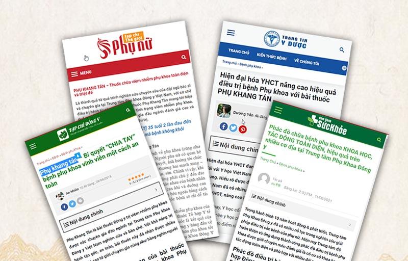 Phụ Khang Tán được nhiều tạp chí đánh giá là giải pháp chữa phụ khoa toàn diện