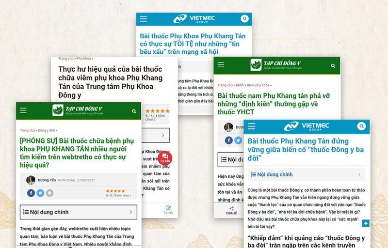 Phụ Khang Tán được được nhiều tạp chí, kênh thông tin y tế khẳng định là thuốc YHCT chính thống, hiệu quả cao