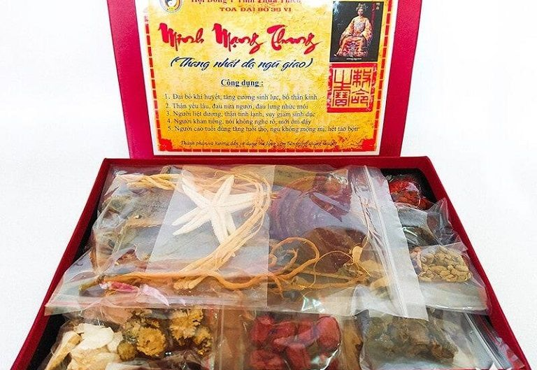 Hình ảnh bài thuốc Minh Mạng Thang lưu truyền trong thực tế