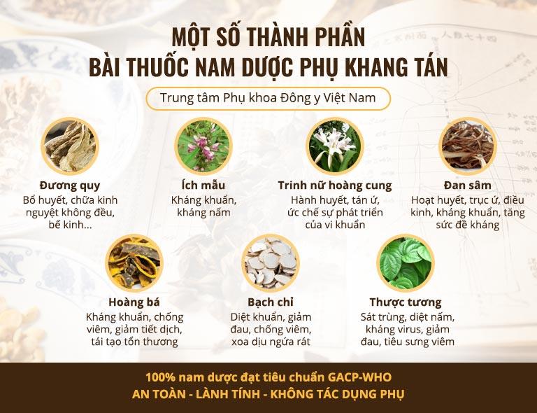 Một số vị thảo dược trong Phụ Khang Tán