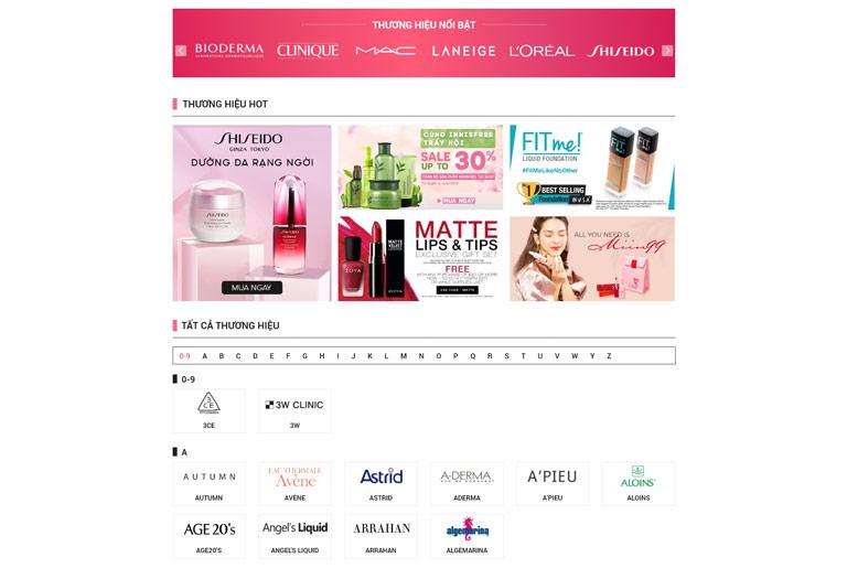 Giao diện website drbeauty.com.vn